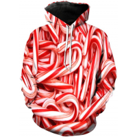 CHRISTMAS CANDY CANE - 3D STREET WEAR HOODIE