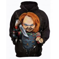 CHUCKY THE KILLER CHILDS PLAY - 3D STREET WEAR HOODIE