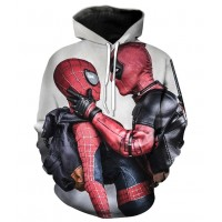 DEADPOOL AND SPIDERMAN - 3D STREET WEAR HOODIE