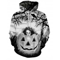 HALLOWEEN CREEPY PUMPKIN SURPRISE - 3D HOODIE