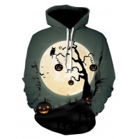 HALLOWEEN MOON CREEPY TREE - 3D HOODIE