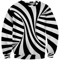ILLUSION STRIPES - LONG SLEEVE 3D STREET WEAR SWEATER