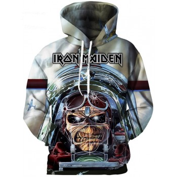 IRON MAIDEN SERIES - 3D STREET WEAR HOODIE - WeSellAnything.Co