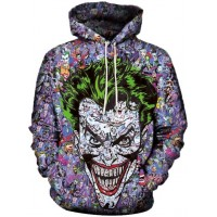 JOKER FACE MASH UP - 3D STREET WEAR HOODIE