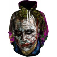 JOKER FACE SKETCH - 3D STREET WEAR HOODIE