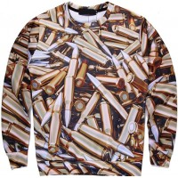JUST BULLETS - LONG SLEEVE 3D STREET WEAR SWEATER