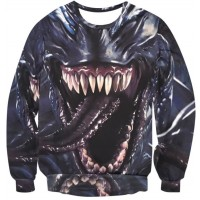 MARVEL VENOM SPIDERMAN - LONG SLEEVE 3D STREET WEAR SWEATER