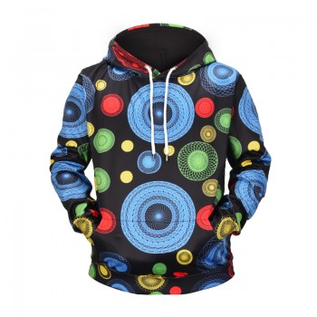 PSYCHEDELIC CIRCLES - 3D HOODIE - WeSellAnything.Co
