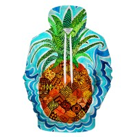 PSYCHEDELIC PINEAPPLE BUZZ - 3D HOODIE
