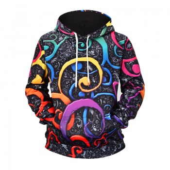 PSYCHEDELIC TWIRL - 3D HOODIE - WeSellAnything.Co