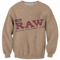 RAW PAPER - LONG SLEEVE 3D STREET WEAR SWEATER