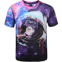 SPACE MONKEY TSHIRT - 3D STREET WEAR TSHIRT