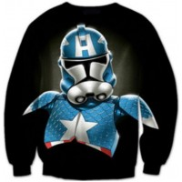 STAR WARS CAPTAIN AMERICA TROOPER - LONG SLEEVE 3D STREET WEAR SWEATER