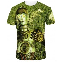 STAR WARS CP30 SMOKING GOOD - 3D STREET WEAR TSHIRT