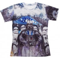 STAR WARS CRAYON SKETCH - 3D STREET WEAR TSHIRT