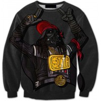 STAR WARS GHETTO DARTH VADER - LONG SLEEVE 3D STREET WEAR SWEATER