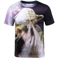 STAR WARS VAPING YODA - 3D STREET WEAR TSHIRT
