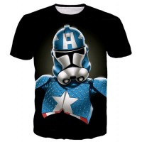 STAR WARS X CAPTAIN AMERICA - 3D STREET WEAR TSHIRT