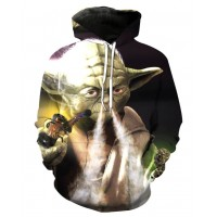 STAR WARS YODA SMOKE UP - 3D STREET WEAR HOODIE