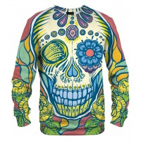 SUGAR SKULL FUNKY COLOURFUL - LONG SLEEVE 3D STREET WEAR SWEATER