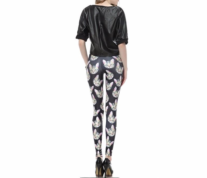 Aliexpress.com : Buy 2015 Fashion Cheshire Cat 3D digital ...  |Cat Print Spandex