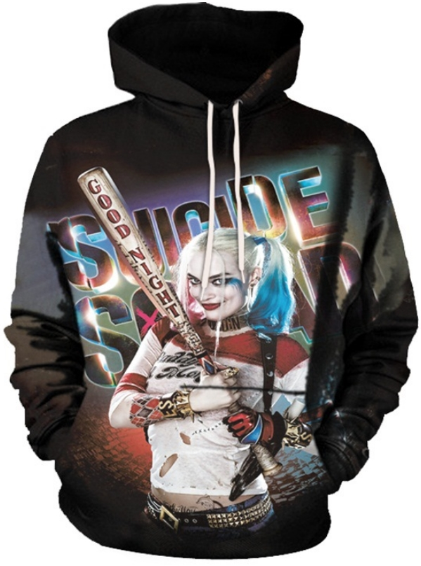 88a8262e563d HARLEY QUINN SUICIDE SQUAD - 3D STREET WEAR HOODIE - by www ...