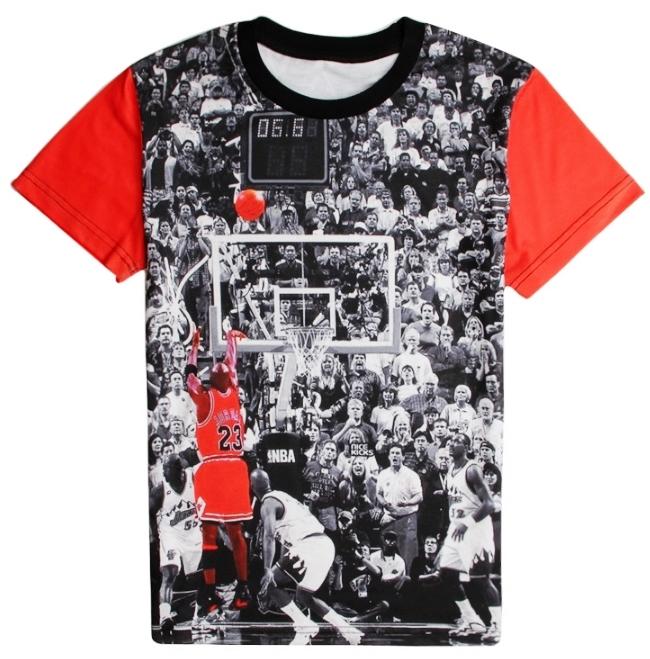 on sale c20f3 fd77b MICHAEL JORDAN BASKETBALL SHOOT - 3D STREET WEAR TSHIRT